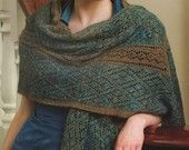 """Luxe  Feminine Soft Qiviut Shawl Made by Alice Scherp from """"Successful Lace Knitting"""" Donna Druchanus"""