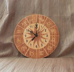 Zodiac Clock by BunBunWoodworking on Etsy