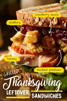 Keep Thanksgiving going by making grilled leftover sandwiches on the Gas2Coal grill. Choose between grilling your leftovers with the easy convenience of gas or the low and slow, smoky perfection of charcoal. However you grill it - pile on the potatoes, don't forget cranberry sauce and give thanks for a truly epic sandwich. | Char-Broil