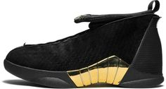 736c8d517c0 Air Jordan 15 Retro Black/Metallic Gold 'Doernbecher' Jordan 15, Retro Shoes