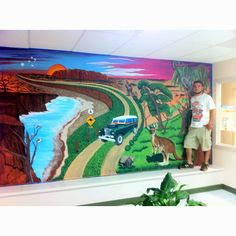 Australian mural at a pediatric dental office in Avon. More to come!