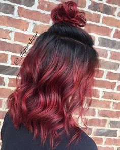 25 + ›Red hair with shadow root and upper knot 54 Likes, 2 Comments -… - Re. - 25 + ›Red hair with shadow root and upper knot 54 Likes, 2 Comments -… – Red Hair with Shado - Onbre Hair, New Hair, Hair Gel, Red Hair Color, Cool Hair Color, Red Color, Hair Colours, Hair Colour Ideas, Hair Hacks