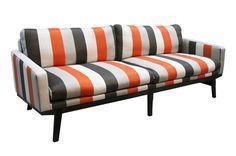 Jimmy Possum. Sofa Collections. #magazinemonday....do I see the color orange? yes I do....
