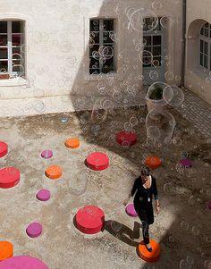 The Encounter // 'Lively Architecture Festival' in Montpellier Montpellier, Installation Art, Art Installations, The Encounter, Interactive Art, Style Tile, Public Art, Interior Design Inspiration, Design Art