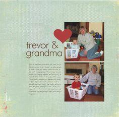 Trevor & Grandma - Scrapbook.com