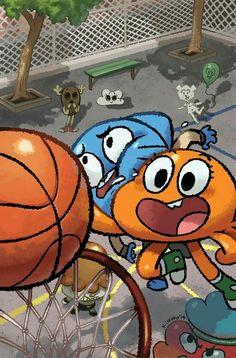 Gumball being dunked by darwin Cartoon Crossovers, Cartoon Memes, Cartoon Shows, Cartoon Characters, Cartoons, Galaxy Wallpaper, Disney Wallpaper, Cartoon Wallpaper, Cartoon Drawings