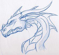 "RPG, manga , quadrinhos , cultura em geral: Visualizar """" My Drawings, Animal Drawings, Drawing Sketches, Airbrush, Dragon Art, Dragon Head Drawing, Drawing Lessons, Drawing Techniques, Dragon Sketch"