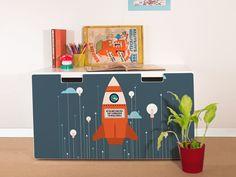 "Furniture+sticker+for+IKEA+STUVA+""Rock+the+World""+from+yourdea+by+DaWanda.com"