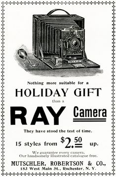 OldDesignShop - Ray Camera Ad 1898