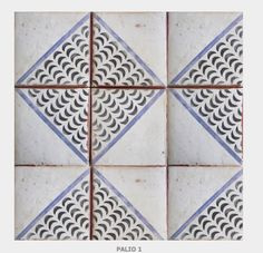 Hand painted terracotta tiles add character and charm to two farmhouse rustic bathrooms. Tiles by Tabarka Studio. Tile Patterns, Textures Patterns, Tabarka Tile, Tile Design, Surface Design, Hand Painted, Painted Tiles, Flooring, Terracotta Tile