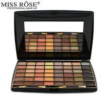 Miss Rose Cosméticos Nova Marca 48 Cores Da Paleta Da Sombra Matte Terra Cor Dos Olhos Sombra de Maquiagem Profissional Para As Mulheres Com Escova(China (Mainland))