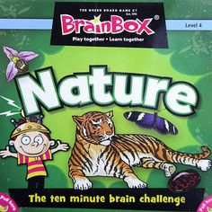 BrainBox for Kids is a fast and fun memory game that does not require any pens, pencils, paper, playing board or even a table! BrainBox Nature features fascinating facts about the natural world and the creatures who inhabit it. The Brain Box Game is beautifully-illustrated, well researched and pure fun.