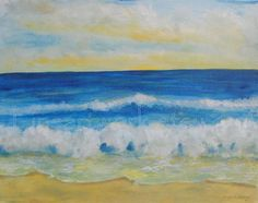 "My Original Painting ""Golden Shores""  16 x 20  Acrylic .  $450.00"