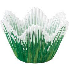 Grass Themed Petal Baking Cups by Wilton