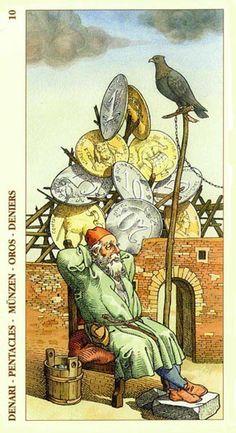 Ten of Pentacles - Albrecht Dürer Tarot (2002) by Giacinto Gaudenzi