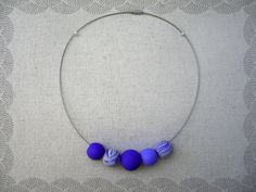 Items similar to Blue Jeans necklace/Gift idea/Beads necklace on Etsy Polymer Clay Beads, Beaded Necklace, Unique Jewelry, Handmade Gifts, Vintage, Etsy, Beaded Collar, Kid Craft Gifts, Pearl Necklace