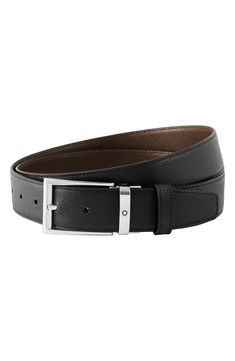 Montblanc Trapeze Reversible Leather Belt | Nordstrom Black And Brown, Nordstrom, Handsome, Belts, Leather, Number, Accessories, Style, Products