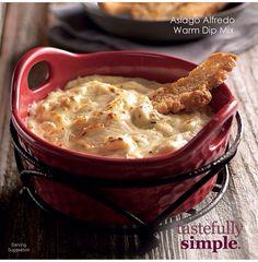 Tastefully Simple Fall-Winter 2014 Asiago Alfredo Warm Dip Mix Www.tastefullysimple.com/web/tedmonds1