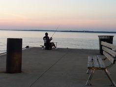 Jackson Street Pier Fishing by Lake Erie Shores & Islands, via Flickr
