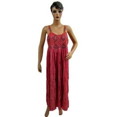 Womens Summer Tank Dresss Indian Designer Embroidered Red Long Sundress (Apparel) http://www.amazon.com/dp/B007N0PE4M/?tag=httpzachlagco-20 B007N0PE4M