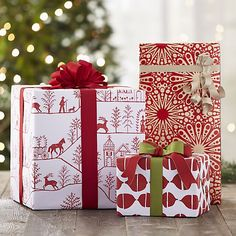 Winter Village Wrapping Paper | Crate and Barrel