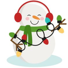 Snowman With Christmas Lights SVG cutting files for scrapbooking winter cut files for cricut cute svg cuts free svg cuts free svgs