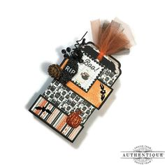 'Bewitched' Fold Out Tag Mini Album With Tutorial - Made with Authentique's 'Bewitched' collection