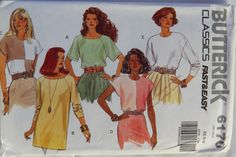 Butterick 6170 Misses' Pullover Top