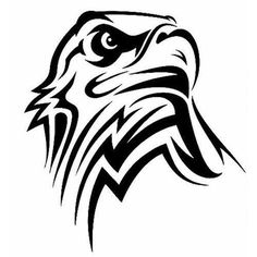 TRIBAL EAGLE VINYL STICKER PLATO EAGLES AMERICA MERICA BALD