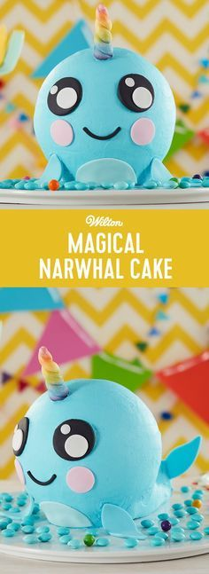 Coolest Narwhal Cake Cake Online 13th Birthday And Homemade