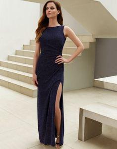 navy blue lipsy maxi dress