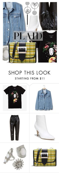 """""""Check It: Plaid - Outfit under $230"""" by maranella ❤ liked on Polyvore featuring Studio Ghibli, Gap, Carlos by Carlos Santana, Mudd and plaid"""