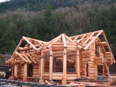 Handcrafted Log Homes/Cedar Log Homes/Log Home Plans/Log Home Builders Small Log Homes, Log Cabin Homes, Log Home Plans, Barn Plans, Metal Building Homes, Building A House, Home Room Design, House Design, Log Home Builders