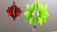 How to make your own origami Christmas ornament! The decoration is made from eight traditional samurai helmet origami.