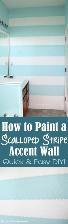 How to Easily Paint a Scalloped Stripe Accent Wall - Happiness is Homemade