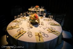 Round Tables & Real Linen Napkins.  Stonover Farm, Mezze Catering and Classical Tents