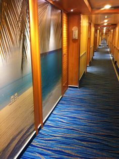 The hallways of Carnival Breeze. Deck 7, midship. So Caribbean resort like.