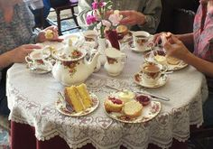 Enjoying tea in an English tea-room_ Resources for advanced students