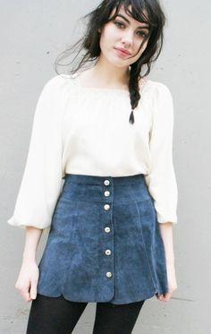 60's style suede skirt