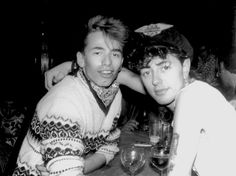 1982, Paris– A couple of lean, mean rockers Thierry Le Coz & Brian Setzer. Brian and the Stray Cats hit the road for the UK and Europe early on, as the Teddy Boy movement and the strong  love abroad for the Sun Records & rockabilly music legends (Elvis, Carl Perkins, Johnny Cash, Jerry Lee Lewis, Eddie Cochran, Gene Vincent, Duane Eddy, and many more) called them there to make their mark…
