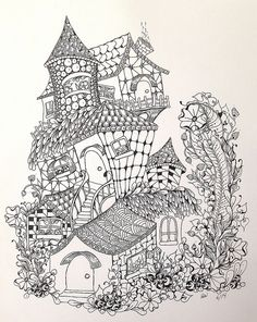 Zentangle-inspired fairy houses @ Flickr - Photo Sharing!