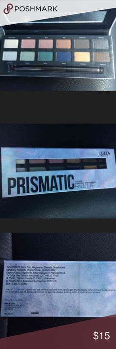 NEW ULTA PRISMATIC EYESHADOW PALETTE NEW IN BOX and NEVER USED ULTA prismatic 12 piece luminous eyeshadow palette! Includes brush. Retails at $25.   NO TRADES!!! Sephora Makeup