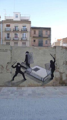 Educación Para La Ciudadanía by Escif @ Valencia, Spain