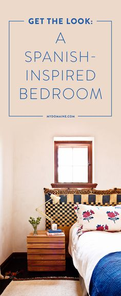 A gorgeous bedroom with Spanish style you can mimic