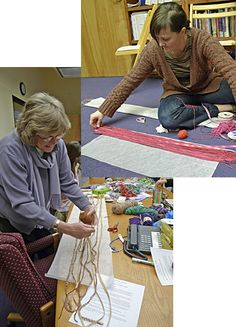 How to Make a Fiber Scarf Laying Down Fibers for Scarves. Using water-soluble tissue. Sew it up to create scarves. Fabric Art, Scrap Fabric, Fabric Crafts, Sewing Crafts, Sewing Projects, Craft Projects, Fabric Jewelry, Textile Jewelry, Fabric Beads