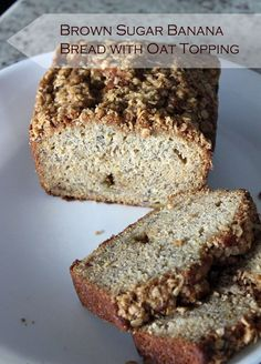 Brown Sugar Banana Bread with Oat Crumb Topping - this is our family's favorite #bananabread!  The topping is SO good!  #quickbreads #bananas #yum #crumbtopping