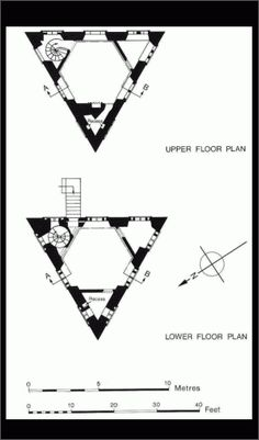 Triangle Building Plan Triangular lodge is a building