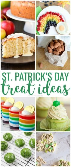 You will love these St. Lots of green food, rainbow treat ideas, and traditional St. Patrick's Day desserts to try here! Patricks day treats rainbow st patricks day treats for kids Rainbow Treats, Rainbow Food, Rainbow Jello, St Patrick Day Treats, St Patricks Day Food, Greens Recipe, Special Recipes, Party Snacks, Decoration