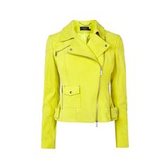 YELLOW SUEDE BIKER JACKET (6 030 SEK) ❤ liked on Polyvore featuring outerwear, jackets, rider jacket, motorcycle jacket, suede moto jacket, suede motorcycle jacket and suede jacket