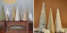 Dekoračné handmade stromčeky #3 | Stromčeky z papiera, špagátu a fazule